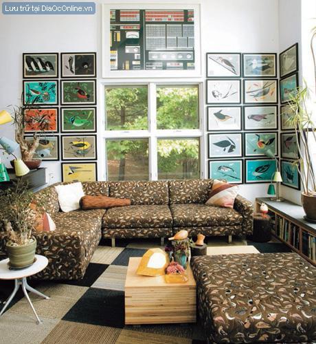 Treo tranh phù hợp với tường