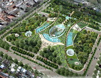 Bãi đậu xe ngầm dưới công viên Lê Văn Tám: Tháng 3-2010 khởi công