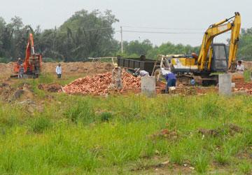 xây dựng cơ sở hạ tầng một dự án nhà ở tại huyện Bình Chánh