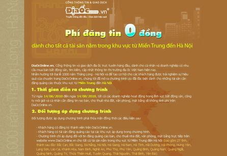 """DiaOcOnline.vn: Tín hiệu vui từ chương trình ưu đãi """"phí đăng tin 0 đồng"""""""