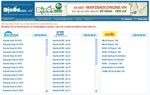 DiaOcOnline.vn: Giao dịch hiệu quả cùng Bản tin địa ốc