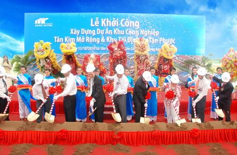 Khởi công dự án khu công nghiệp Tân Kim mở rộng