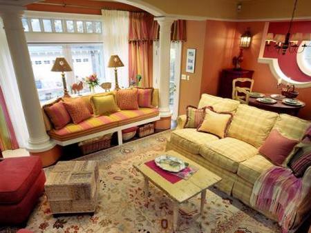 Bài trí phòng khách đón Tết