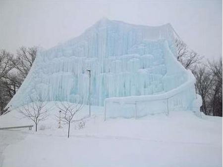 Những lâu đài băng khổng lồ