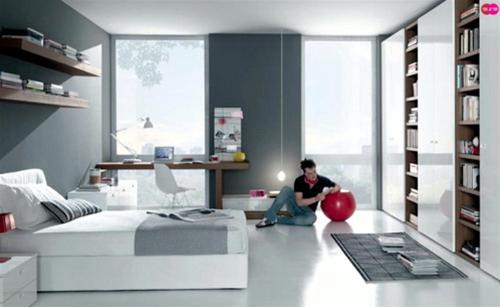 Фото интерьера комнаты для подростка.