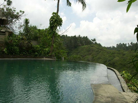 Bể bơi trong khuôn viên nhà vườn