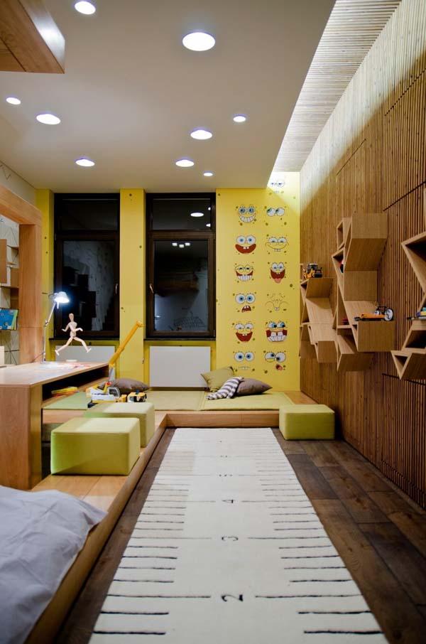 Tường gỗ hiện đại cho nhà thêm sang trọng
