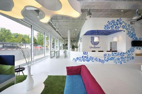 Ngắm văn phòng đầy màu sắc của Unilever