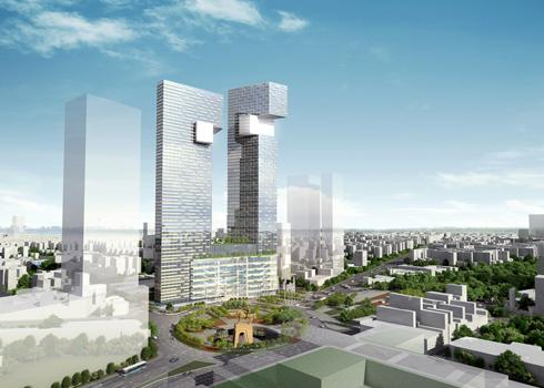 Xây tháp đôi 55 tầng hình rồng trên khu đất vàng TP HCM