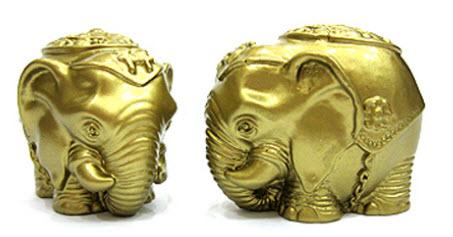 Bài trí biểu tượng voi may mắn và thành công