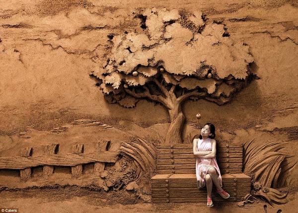 Kinh ngạc với nghệ thuật điêu khắc trên cát