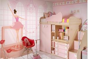 Mẫu thiết kế phòng ngủ con gái màu hồng đáng yêu