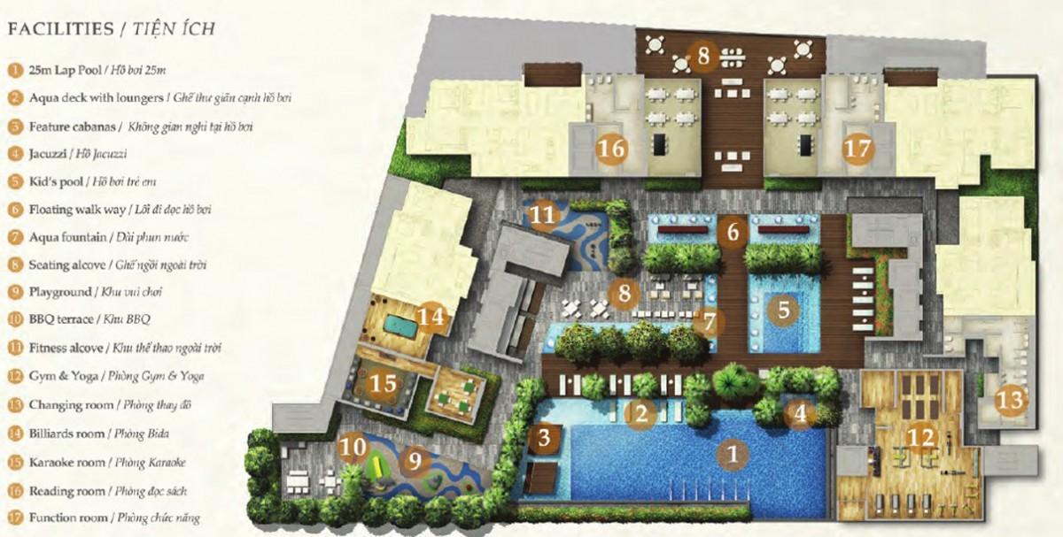 thumb E3E tien ich can ho the nassim 1445873859 Tổng quan và quy mô khu căn hộ The Nassim Thảo Điền
