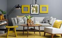Vàng - xám: Cặp màu hoàn hảo cho nhà đẹp hơn
