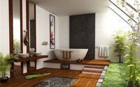 Học cách trang trí phòng tắm đẹp mê theo phong cách Nhật Bản