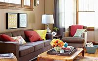Tông màu nóng cho phòng khách mùa thu