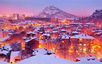 Ngắm cảnh tuyết đêm đẹp huyền ảo
