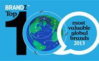 10 thương hiệu giá trị nhất thế giới năm 2013