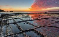 Vỉa hè lát đá ngoạn mục ở hòn đảo Tasmania, Australia