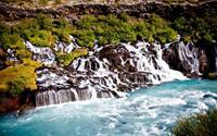 Thác nước dung nham tuyệt đẹp ở Iceland