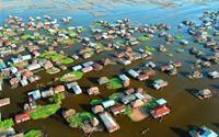 Ngôi làng trên hồ lớn nhất ở Tây Phi