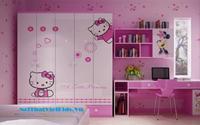 Phòng ngủ Hello Kitty cho bé gái