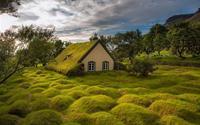 Nhà thờ mái cỏ cuối cùng ở làng Hof – Iceland
