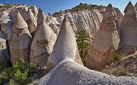 Quần thể núi đá có hình túp lều khổng lồ