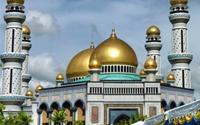 Tận thấy Thánh đường Hồi giáo toàn vàng ở Brunei
