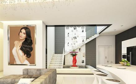 Ngọc Trinh treo ảnh mình khắp nơi trong penthouse triệu đô