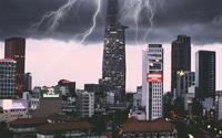 Sài Gòn đẹp ma mị trong mùa mưa gió