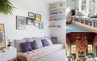 Phòng khách đẹp thanh lịch không cần dùng sofa