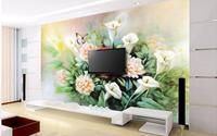 Mê mẩn với những bức tường hoa 3D cho không gian sống sinh động