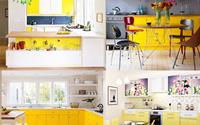 Phòng bếp sắc vàng khiến cả không gian sống bừng nắng