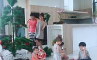 Gia đình Lý Hải hạnh phúc cùng nhau trang trí giáng sinh