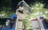 """Cận cảnh """"phố nhà giàu"""" trang hoàng lộng lẫy đón Giáng sinh"""