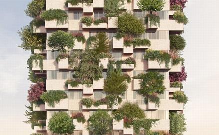 """""""Khu rừng thẳng đứng"""" cho dự án nhà ở xã hội"""