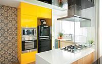 Vàng – gam màu cứu rỗi những căn bếp không có sự xuất hiện của ánh sáng tự nhiên