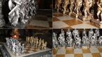 Những bàn cờ vua độc đáo trang trí cho phòng khách