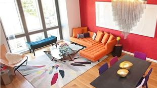 Phòng khách đón mùa thu đẹp xinh nhờ thảm