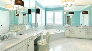 Những kiểu bàn trang điểm trong phòng tắm mọi phụ nữ đều mơ ước