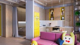 Ngôi nhà rực rỡ với phong cách hoạt hình