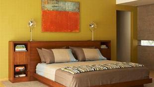 Làm mới phòng ngủ bằng gam màu xanh lá