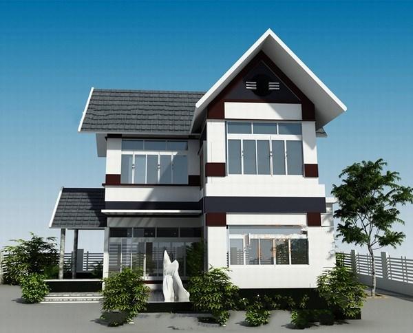 Mê mẩn 10 mẫu biệt thự hai tầng đơn giản siêu đẹp