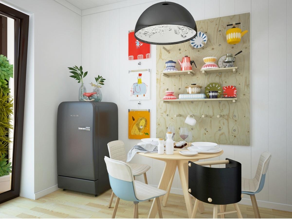 18 mẫu phòng ăn màu trắng kết hợp với nội thất gỗ tự nhiên đẹp không tỳ vết