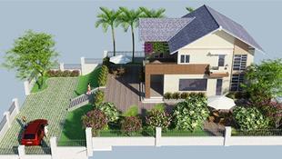 10 mẫu nhà 2 tầng có tường rào đẹp mê ly