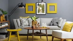Ý tưởng trang trí phòng khách với cặp đôi không bao giờ lỗi mốt: vàng - xám