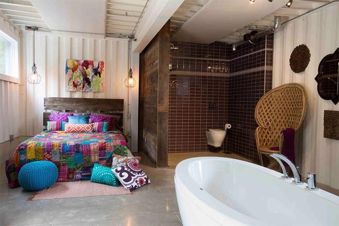 18 kiểu phòng tắm tích hợp phòng ngủ đẹp không khác gì khách sạn