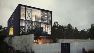 Ngôi nhà hai tầng thiết kế bằng kính ấn tượng
