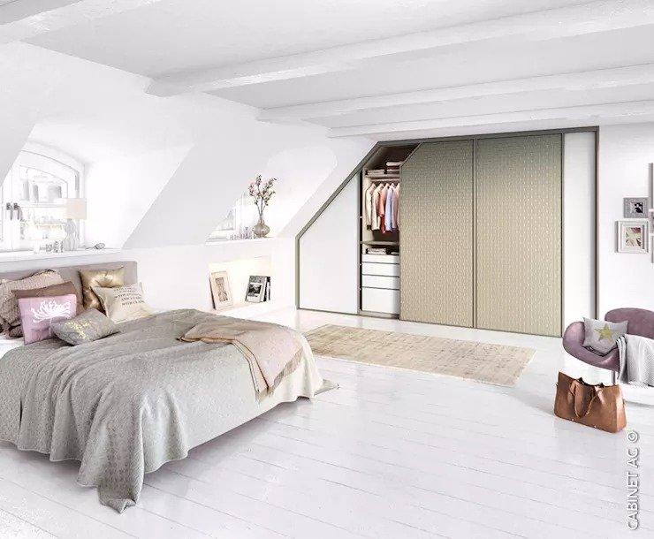"""Các kiểu tủ """"tàng hình"""" cho nội thất phòng ngủ nhỏ"""